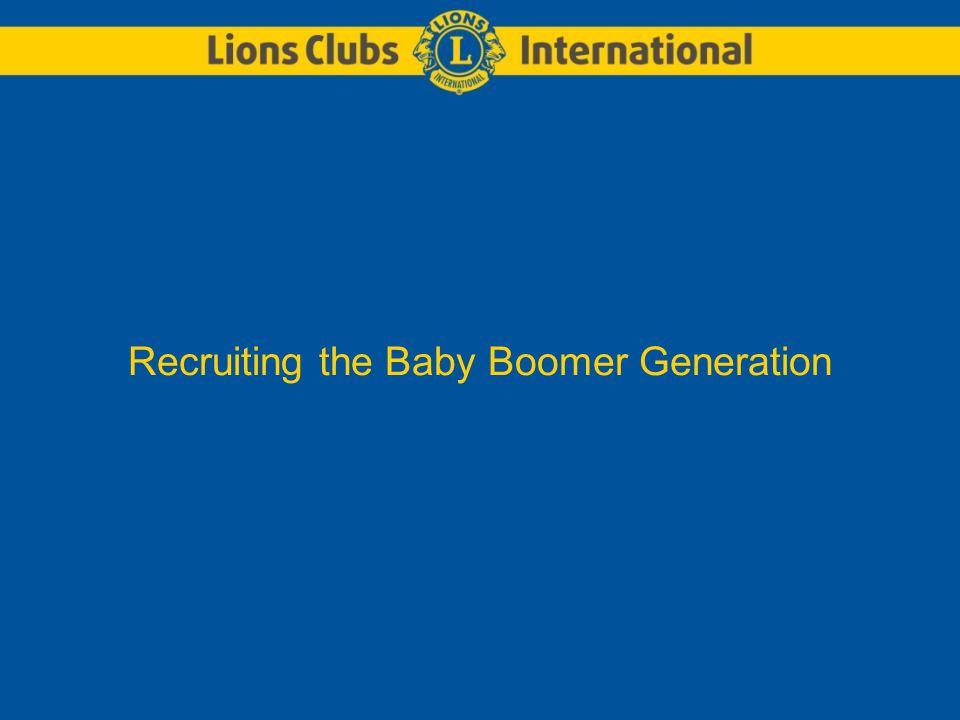 Recruiting the Baby Boomer Generation