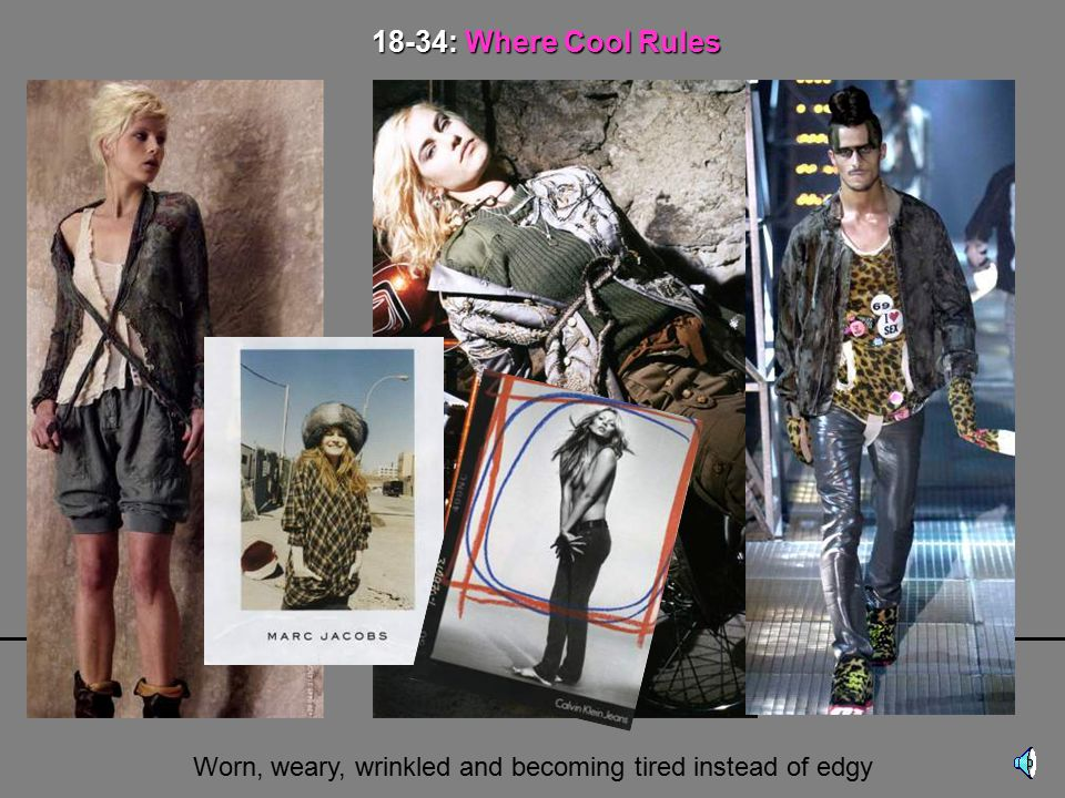 THE MARKETER's MYTH 18-34 Years Old THE FOCUS Of FASHION WRONG!