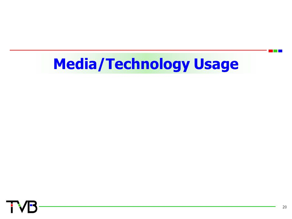 Media/Technology Usage 20