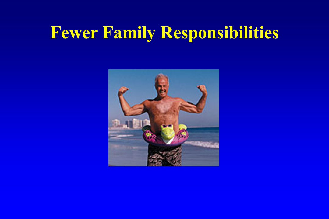 Fewer Family Responsibilities
