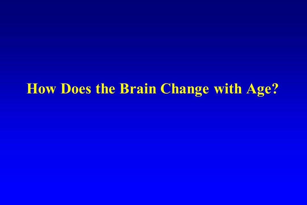 How Does the Brain Change with Age