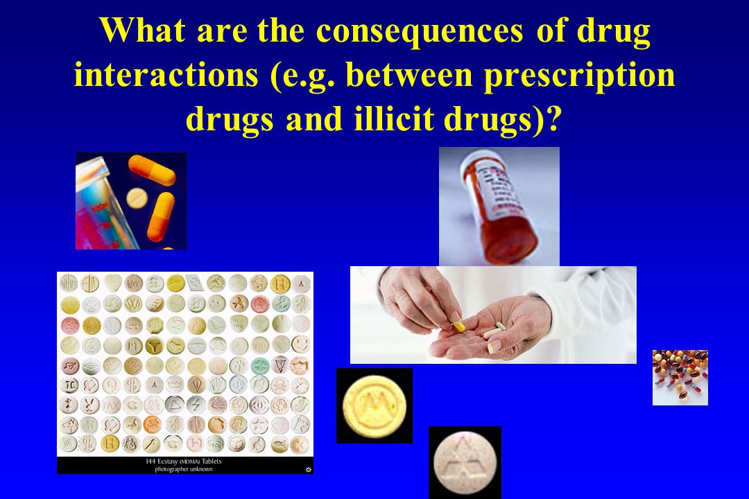 What are the consequences of drug interactions (e.g. between prescription drugs and illicit drugs)