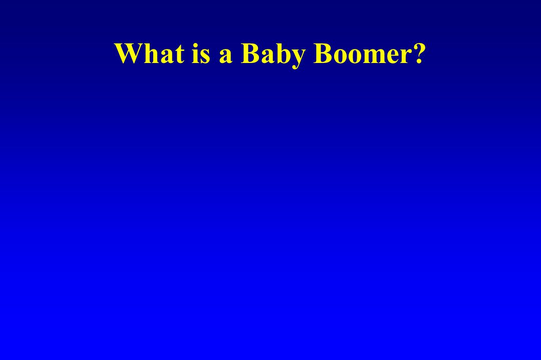 What is a Baby Boomer