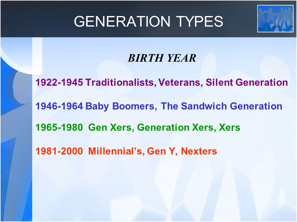 GENERATION XERS In the U.S.