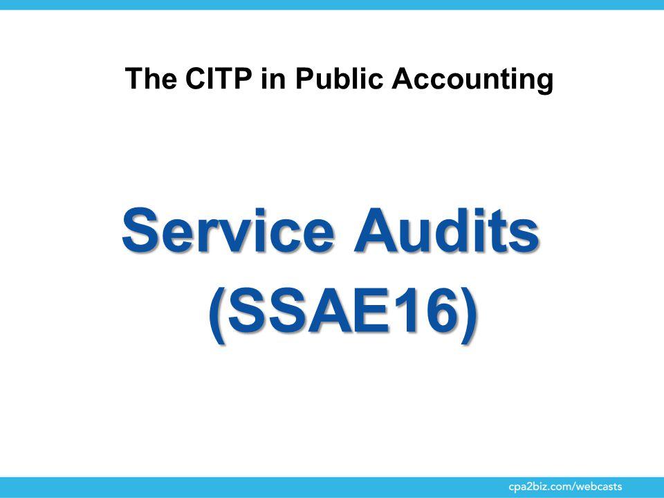 Service Audits (SSAE16)
