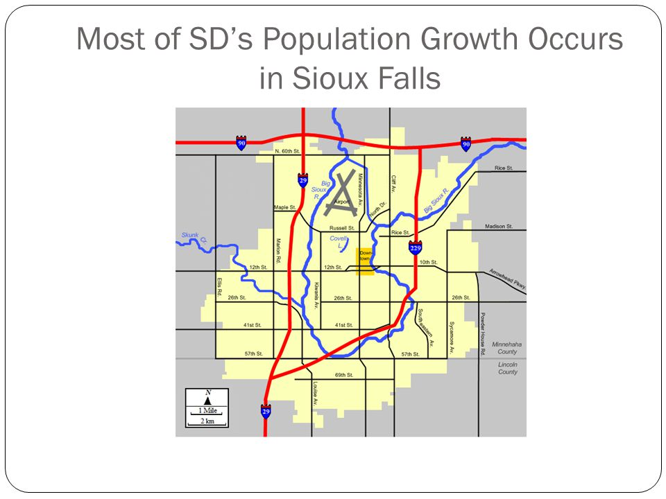 Most of SD's Population Growth Occurs in Sioux Falls