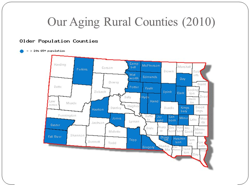 Our Aging Rural Counties (2010)