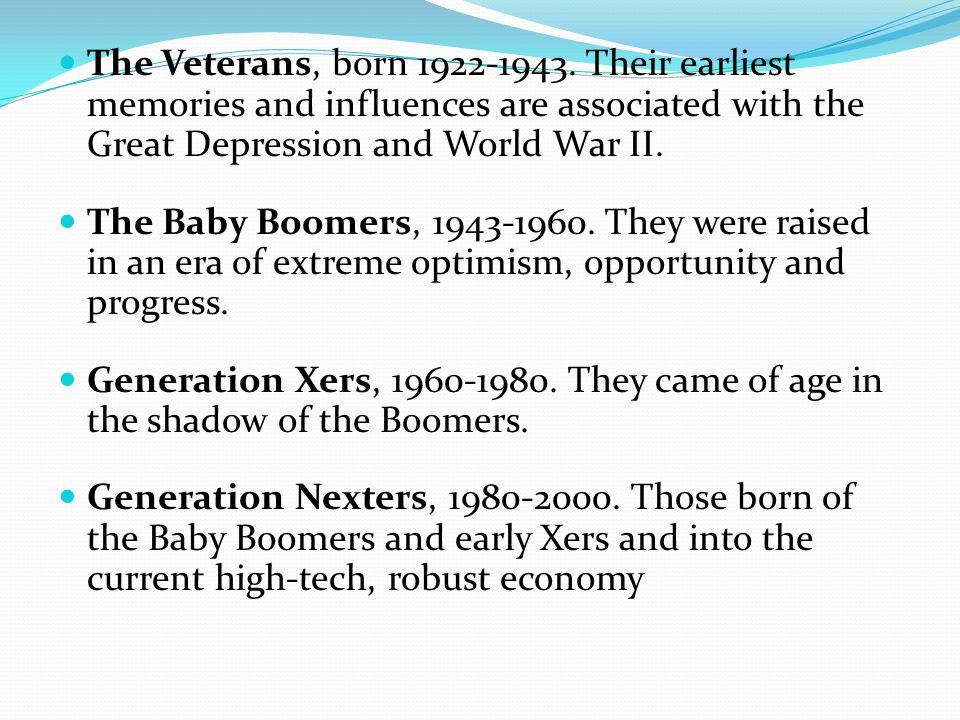 The Veterans, born 1922-1943.