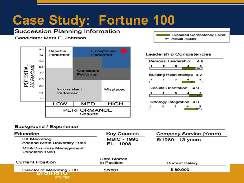 Case Study: Fortune 100