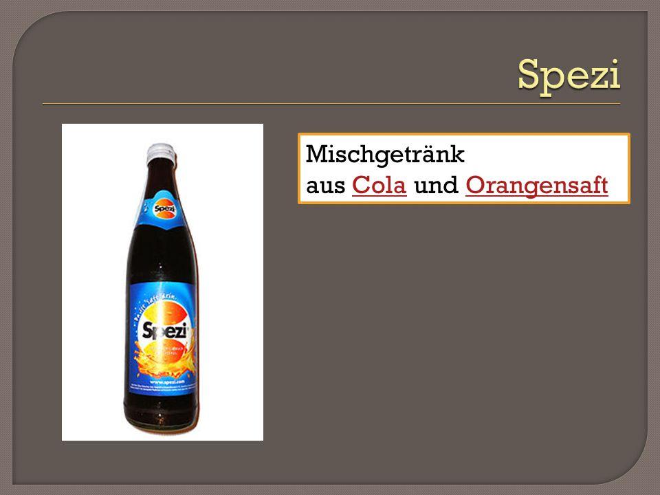 Mischgetränk aus Cola und OrangensaftColaOrangensaft