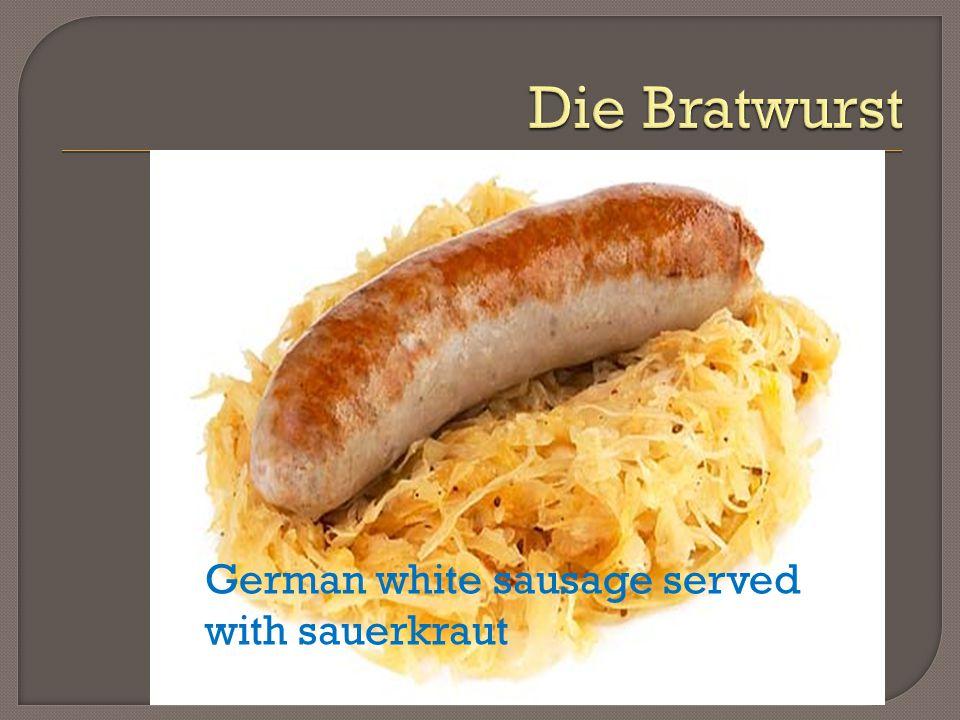 German white sausage served with sauerkraut