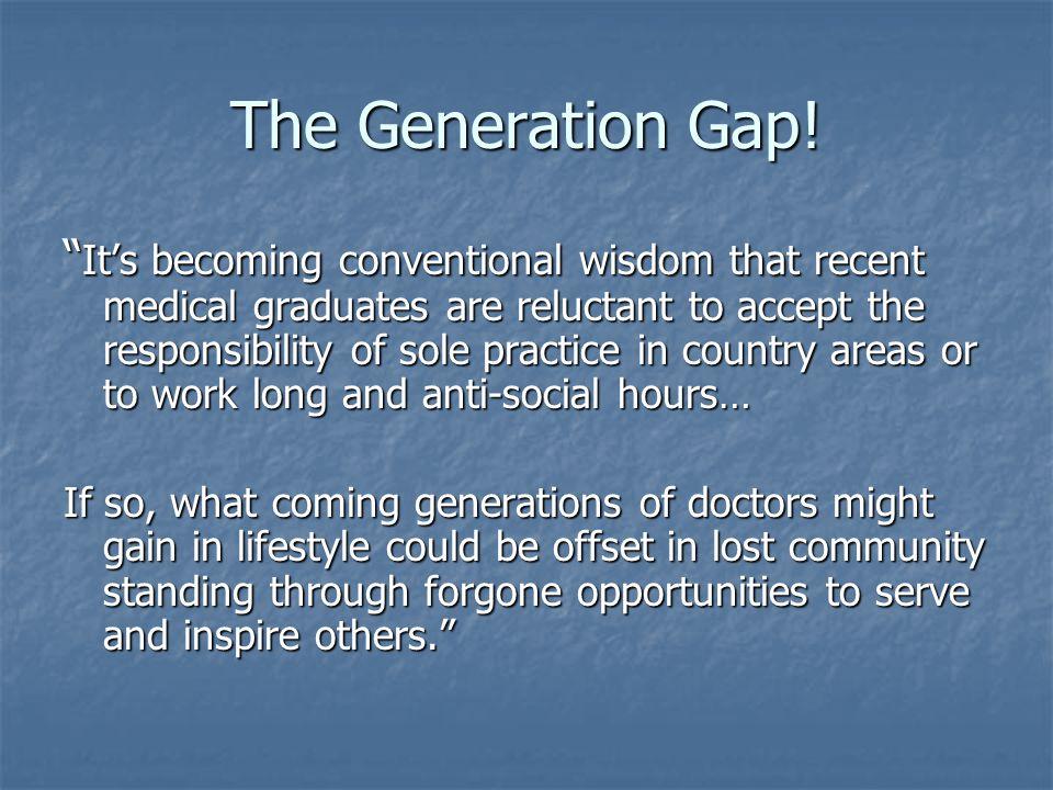 The Generation Gap.