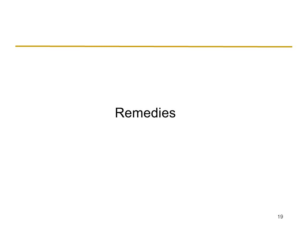 19 Remedies