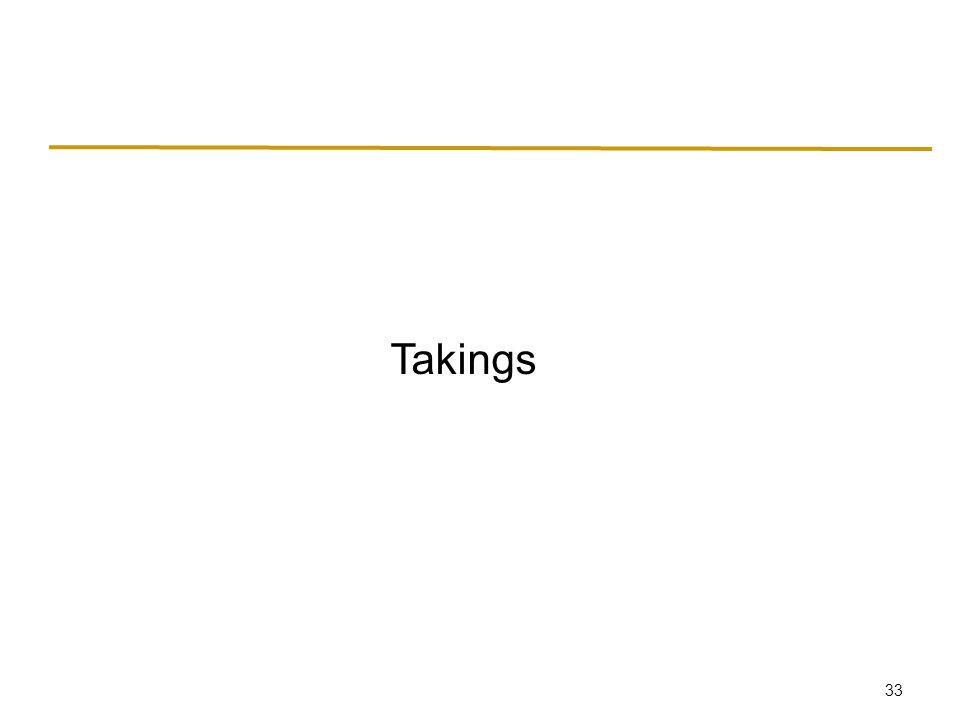 33 Takings