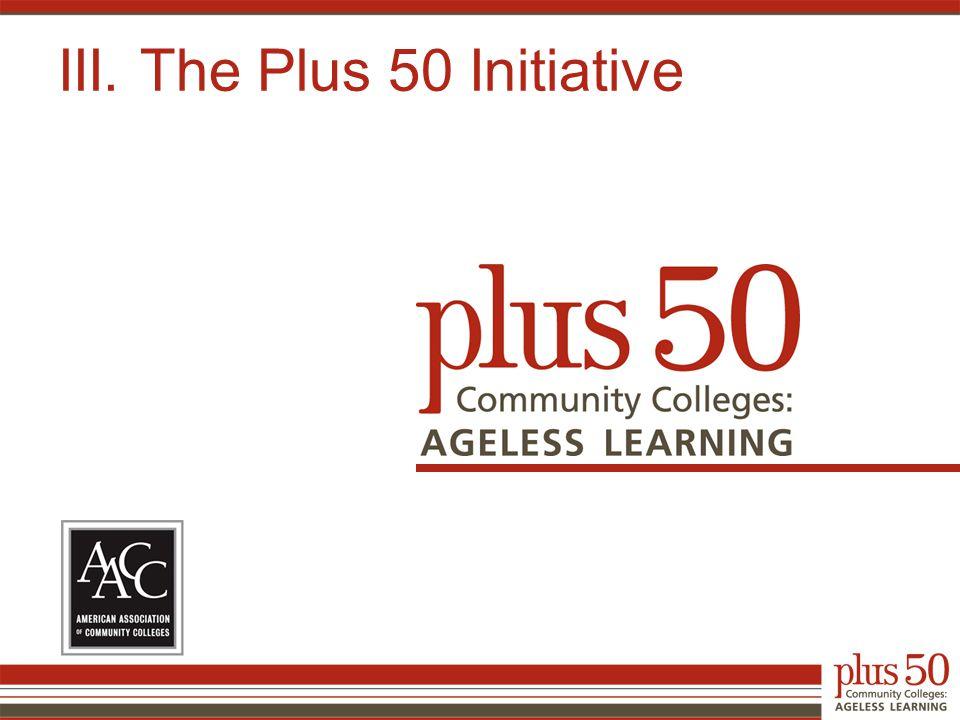 III. The Plus 50 Initiative