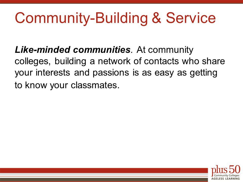 Like-minded communities.