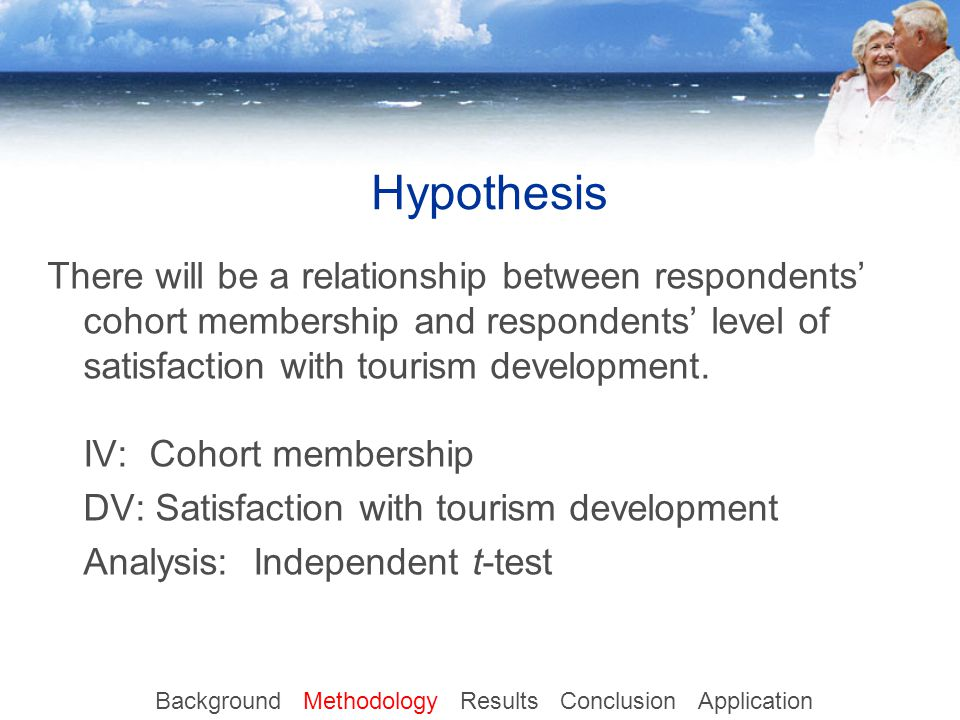 Hypothesis There will be a relationship between respondents' cohort membership and respondents' level of satisfaction with tourism development.