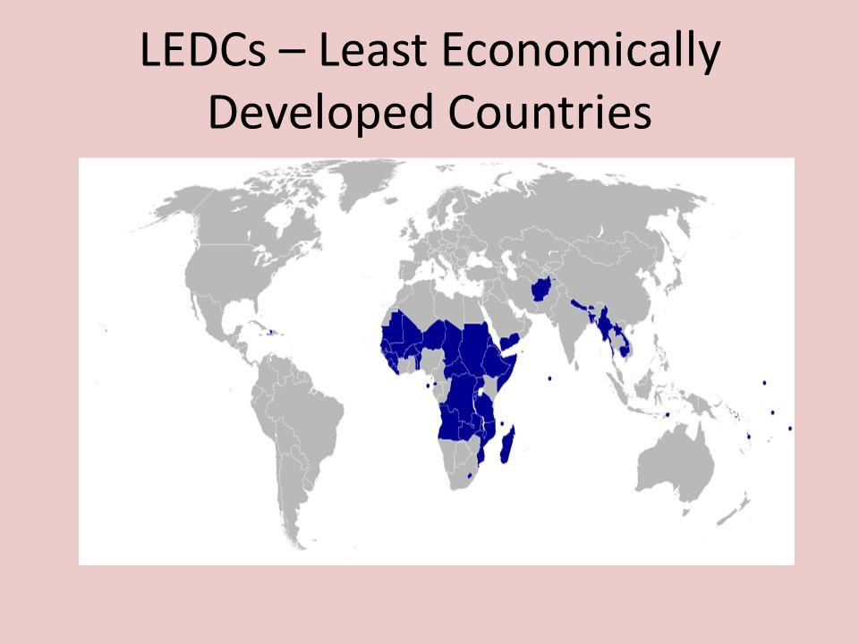 LEDCs – Least Economically Developed Countries
