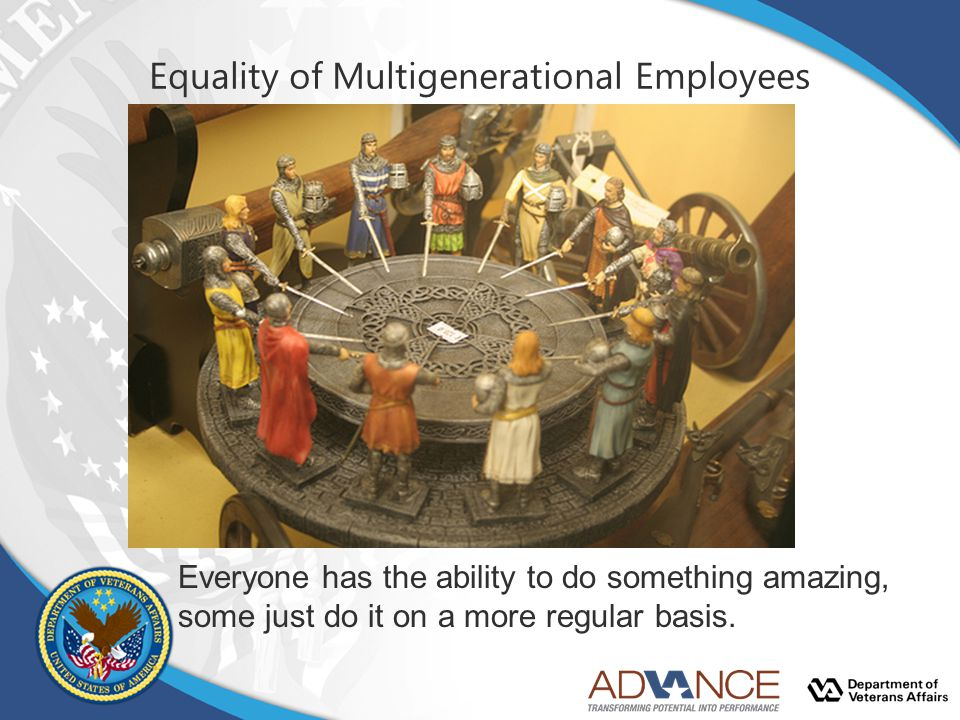Equality of Multigenerational Employees Everyone has the ability to do something amazing, some just do it on a more regular basis.