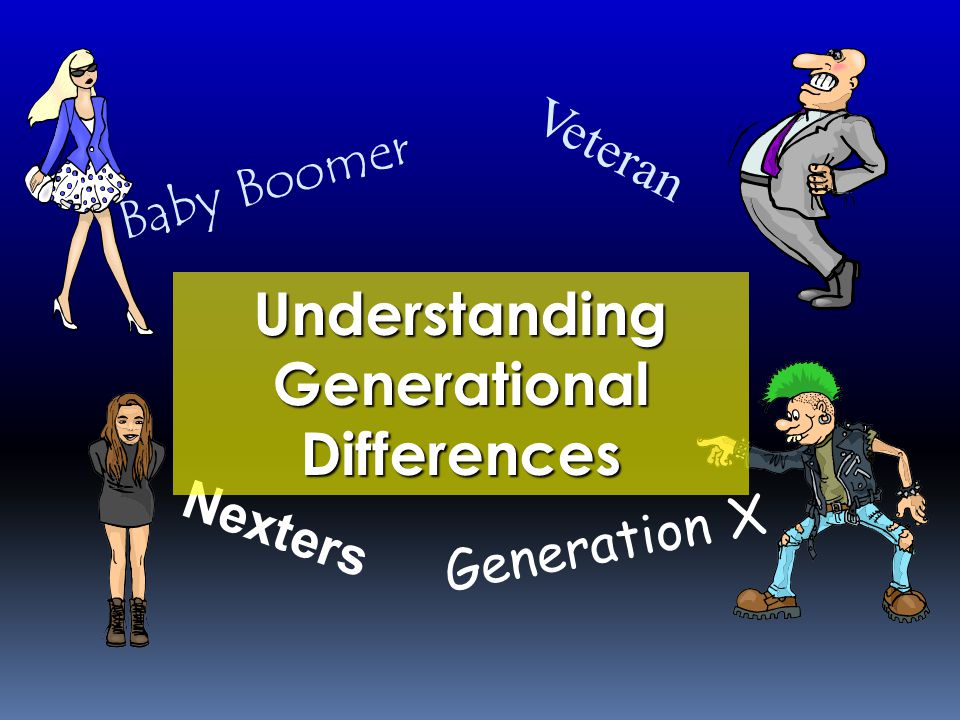 Each has their own learning style based usually on the way they were taught in school. Training the Generation Gap