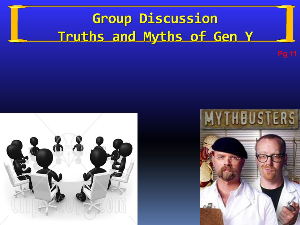 Group Discussion Truths and Myths of Gen Y Pg 11