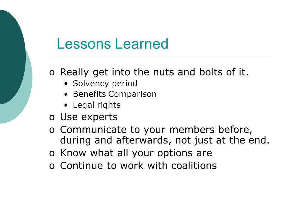 Lessons Learned oReally get into the nuts and bolts of it.