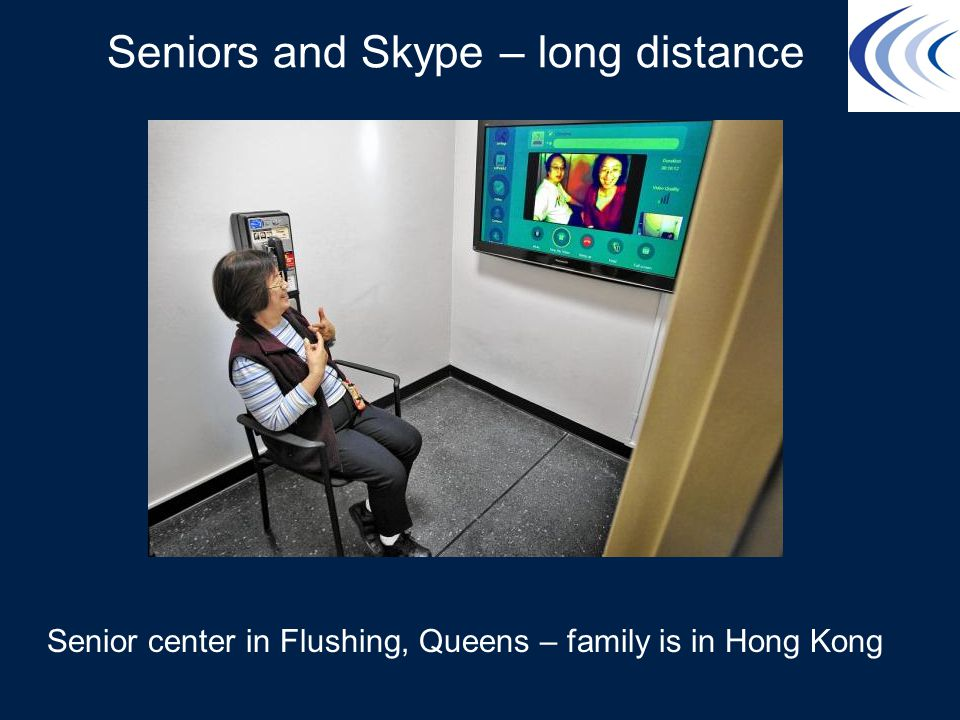 Seniors and Skype – long distance Senior center in Flushing, Queens – family is in Hong Kong