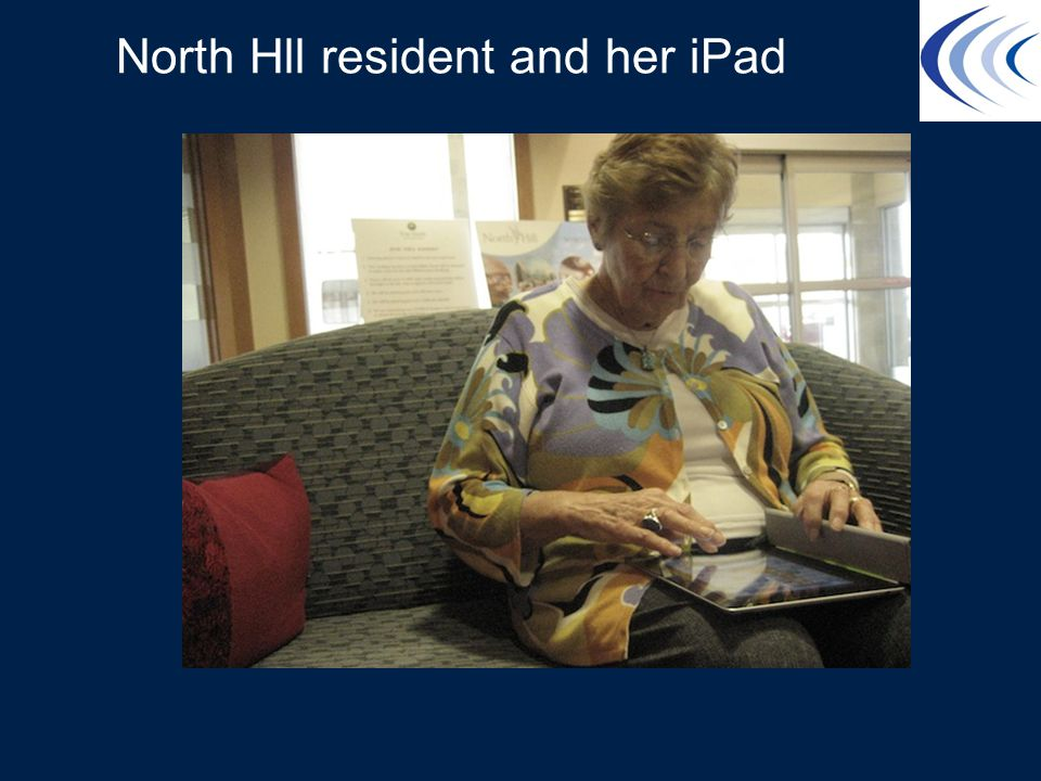 North Hll resident and her iPad