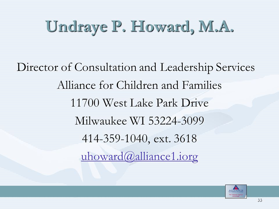 Undraye P. Howard, M.A.
