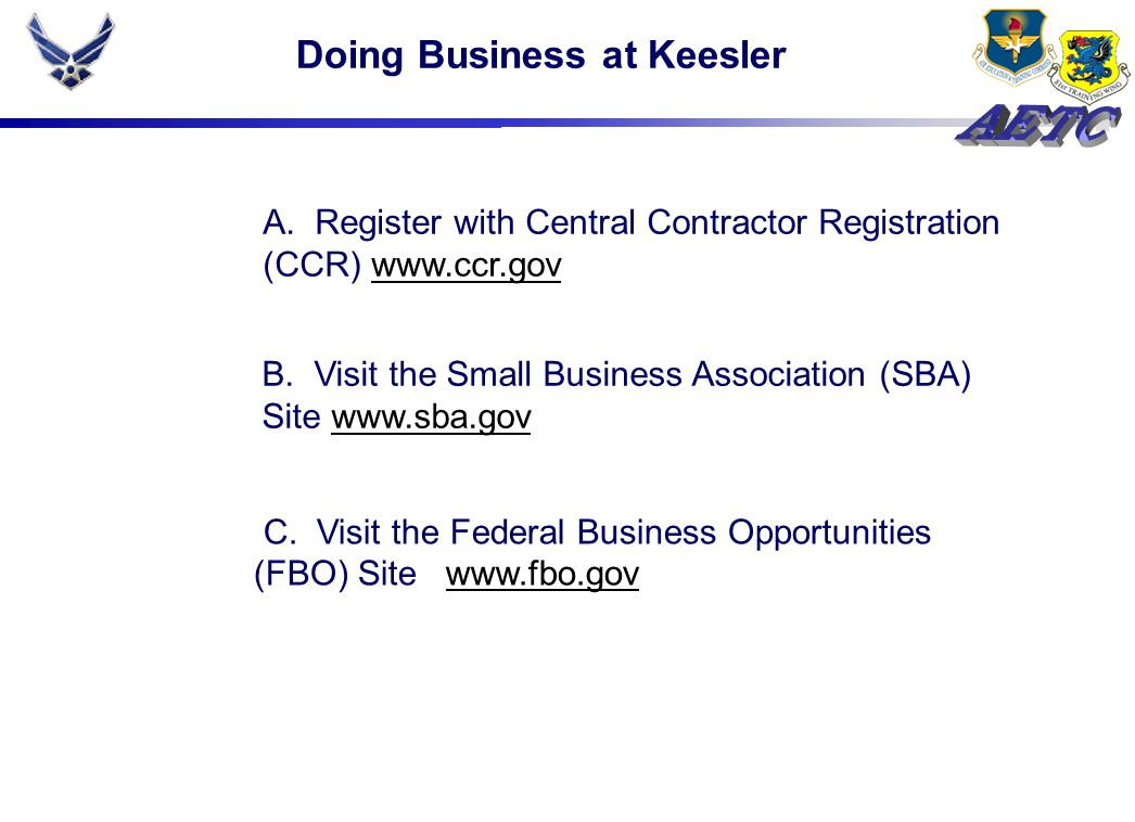 Doing Business at Keesler C.