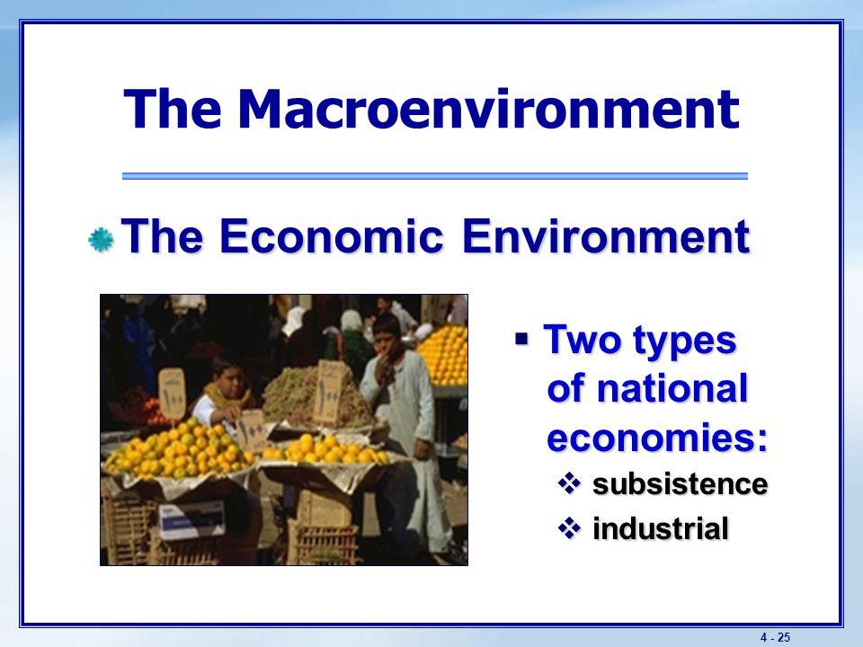 4 - 26 The Macroenvironment Key Economic Trends  U.S.