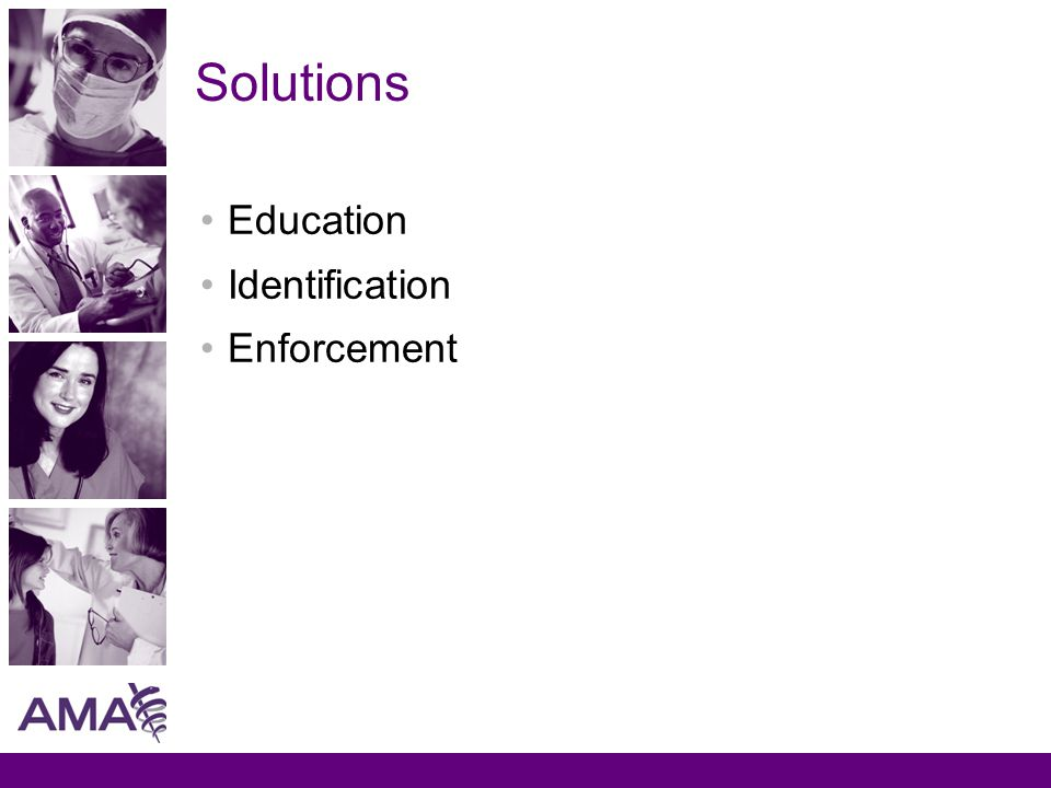 Solutions Education Identification Enforcement