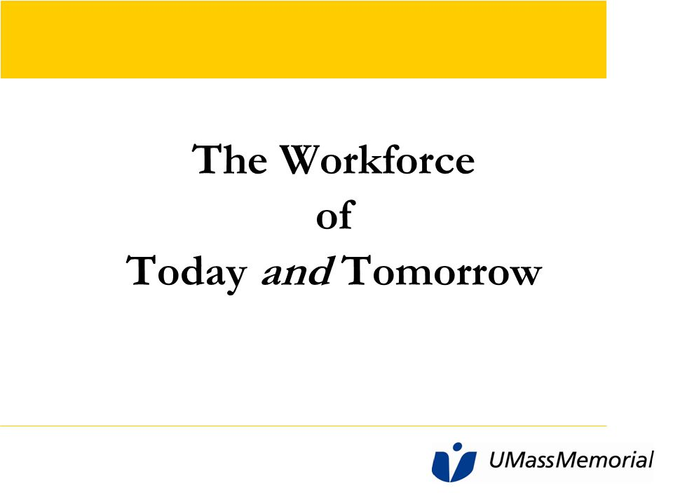 Workforce Needs of the Future Heavy emphasis on Bachelor level and above: – Nurses – Medical Technologists – Physical Therapists – Occupational Therapists – Health Information Technology professionals