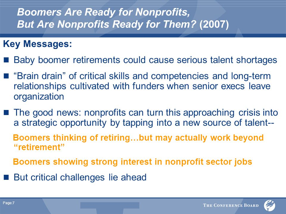 Page:7 Boomers Are Ready for Nonprofits, But Are Nonprofits Ready for Them.