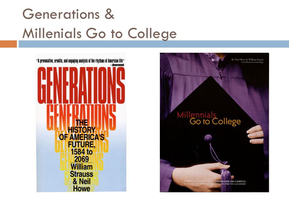 Generations & Millenials Go to College
