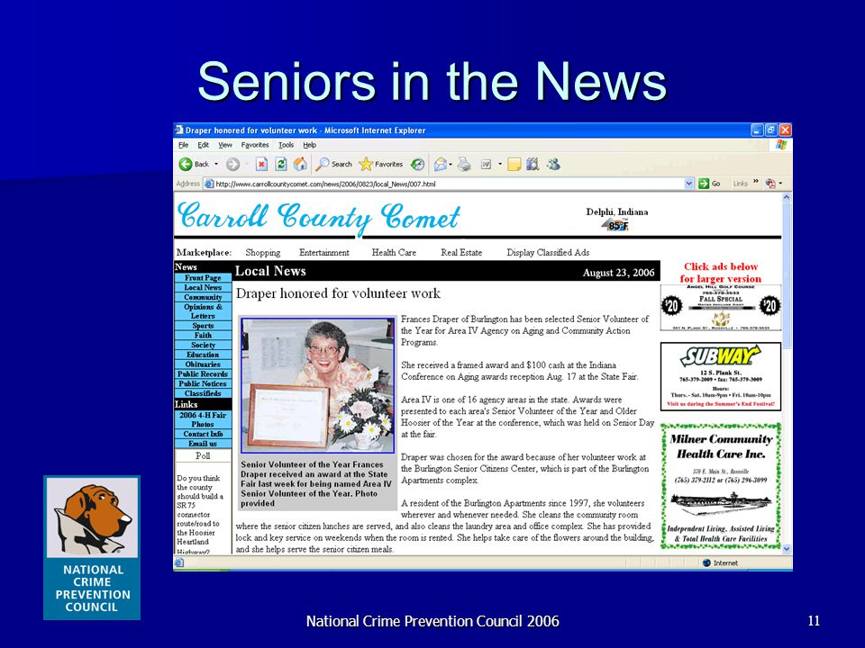 National Crime Prevention Council 200611 Seniors in the News
