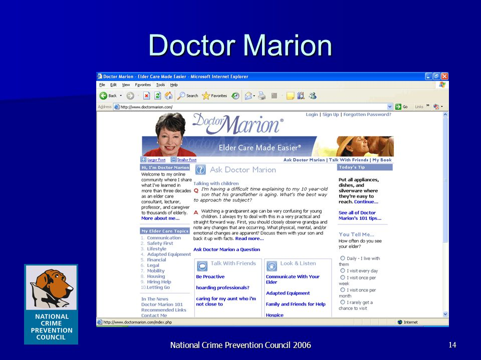 National Crime Prevention Council 200614 Doctor Marion