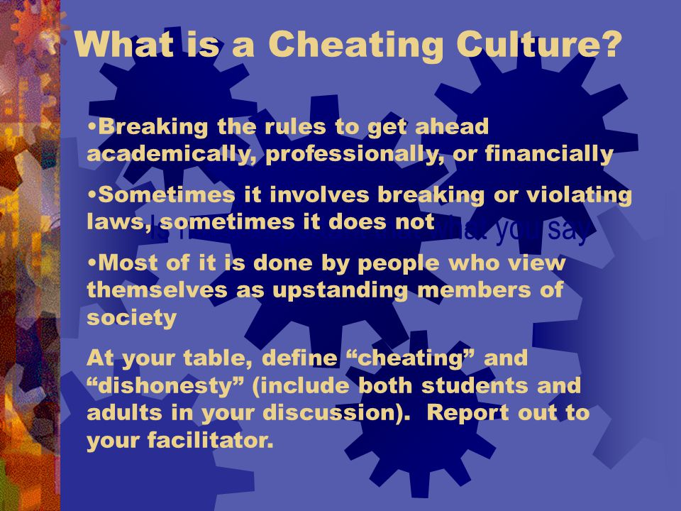 What is a Cheating Culture.