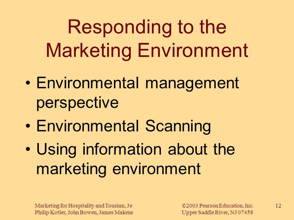 Marketing for Hospitality and Tourism, 3e©2003 Pearson Education, Inc. Philip Kotler, John Bowen, James MakensUpper Saddle River, NJ 07458 12 Respondi
