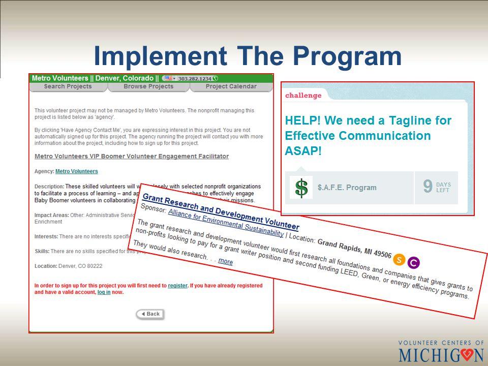Implement The Program