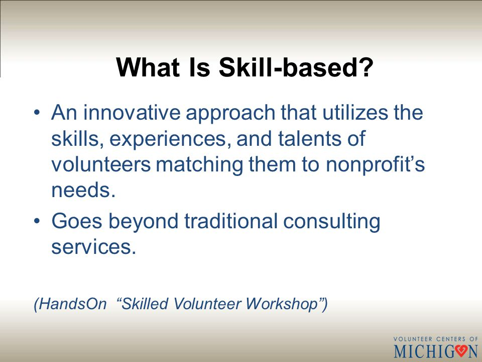What Is Skill-based.