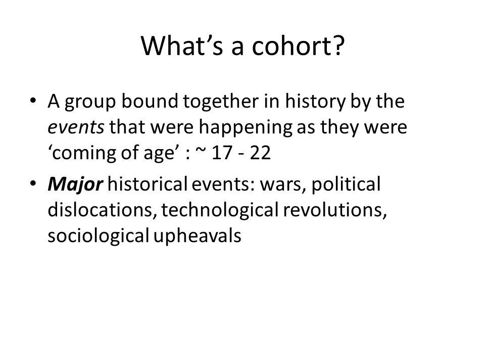 What's a cohort.