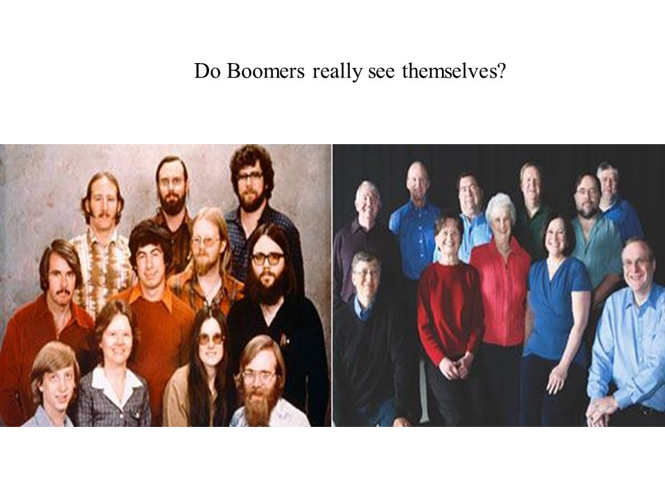 Do Boomers really see themselves?