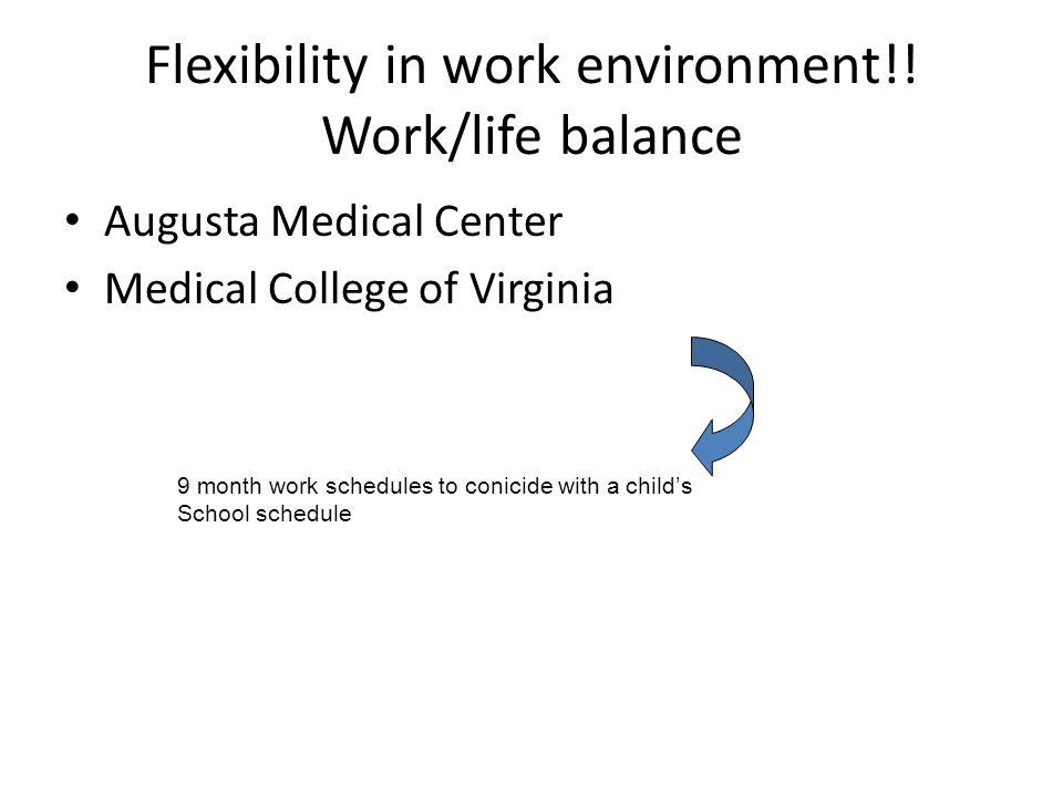 Flexibility in work environment!.