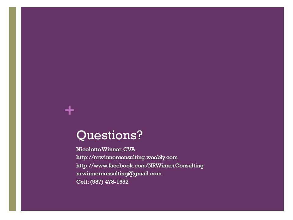 + Questions.