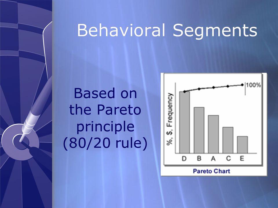 Behavioral Segments Based on the Pareto principle (80/20 rule)
