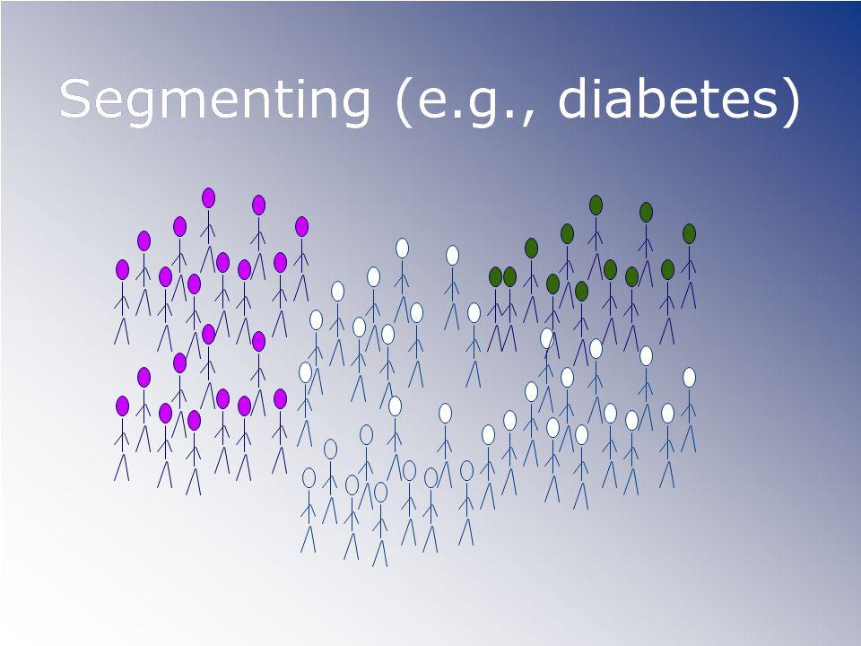 Segmenting (e.g., diabetes)