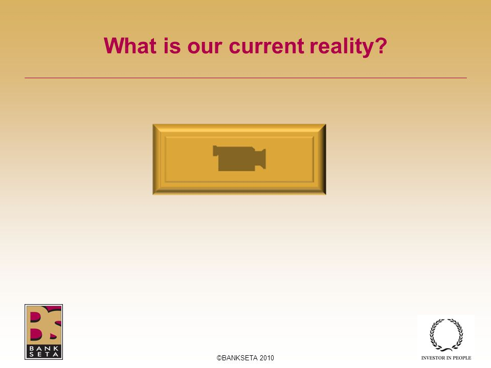 What is our current reality ©BANKSETA 2010