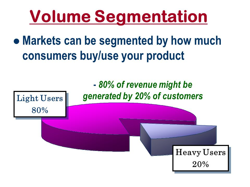 Bases for/ Systems of Segmentation Who Geographic Segmentation Demographic Segmentation – SocioGraphics Consumes How Much Volume Segmentation & Why Psychographic Segmentation – Motives, Traits, AIO's, Attitudes & Beliefs, Benefits Behavioral