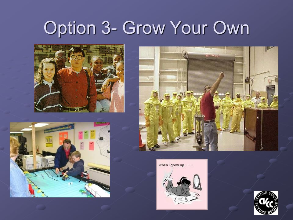 Option 3- Grow Your Own